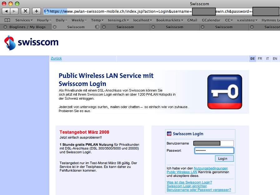 swisscom login email