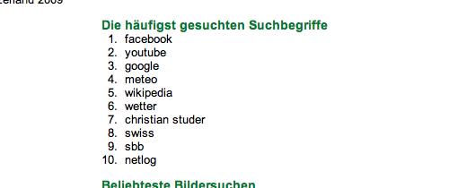 Google Zeitgeist 2009