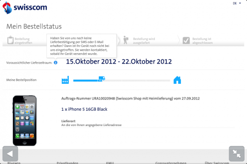 iPhone 5 Lieferdatum