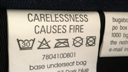 Carelessness causes fire