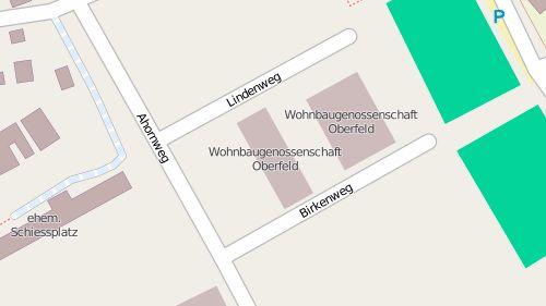 Oberfeld auf der Open Street Map