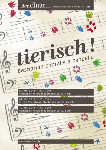 Der Chor - Tierisch! - Konzertplakat